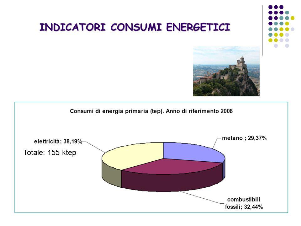 Totale: 155 ktep INDICATORI CONSUMI ENERGETICI