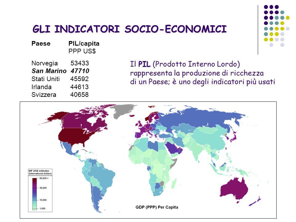 GLI INDICATORI SOCIO-ECONOMICI Lo H.D.I.