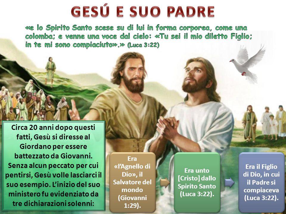 Circa 20 anni dopo questi fatti, Gesù si diresse al Giordano per essere battezzato da Giovanni. Senza alcun peccato per cui pentirsi, Gesù volle lasci