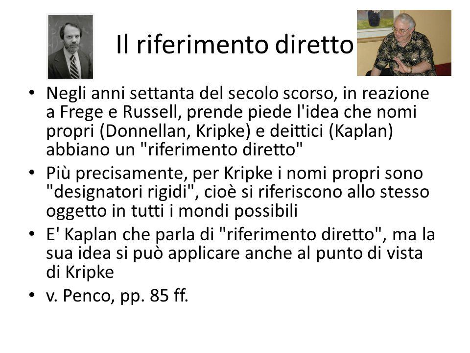 Gli argomenti di Kripke argomento modale argomento epistemico argomento semantico v.