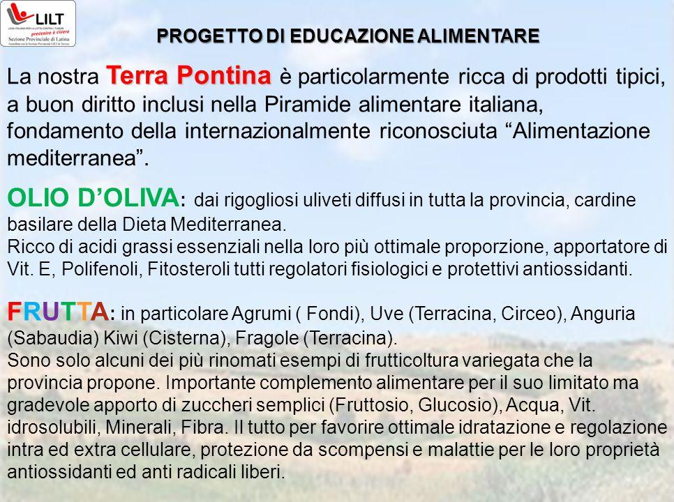 Terra Pontina La nostra Terra Pontina è particolarmente ricca di prodotti tipici, a buon diritto inclusi nella Piramide alimentare italiana, fondament