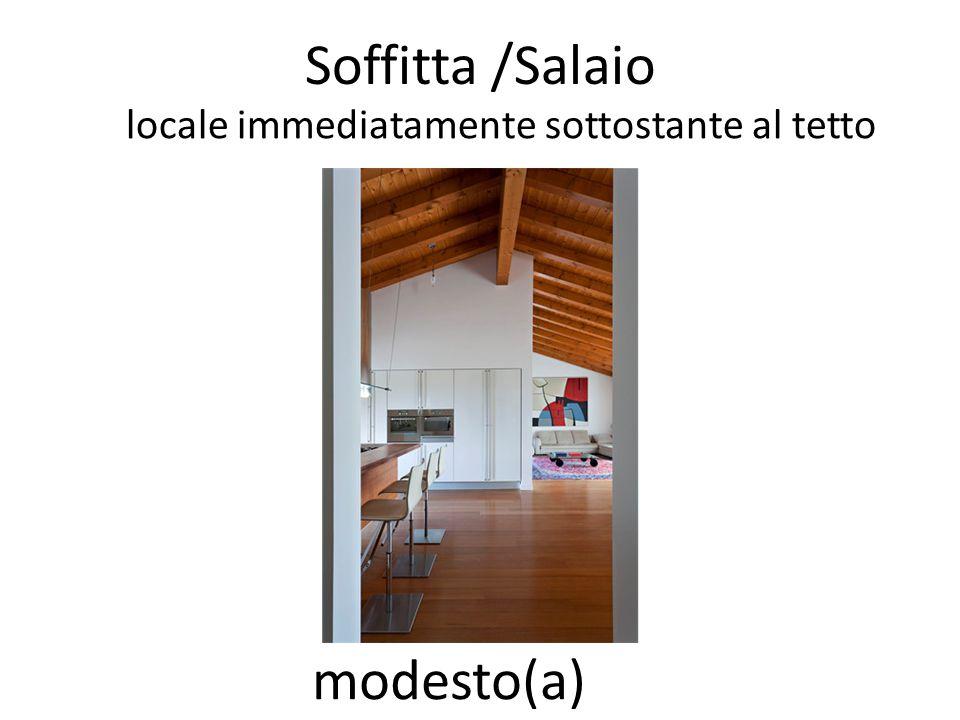 Soffitta /Salaio locale immediatamente sottostante al tetto modesto(a)