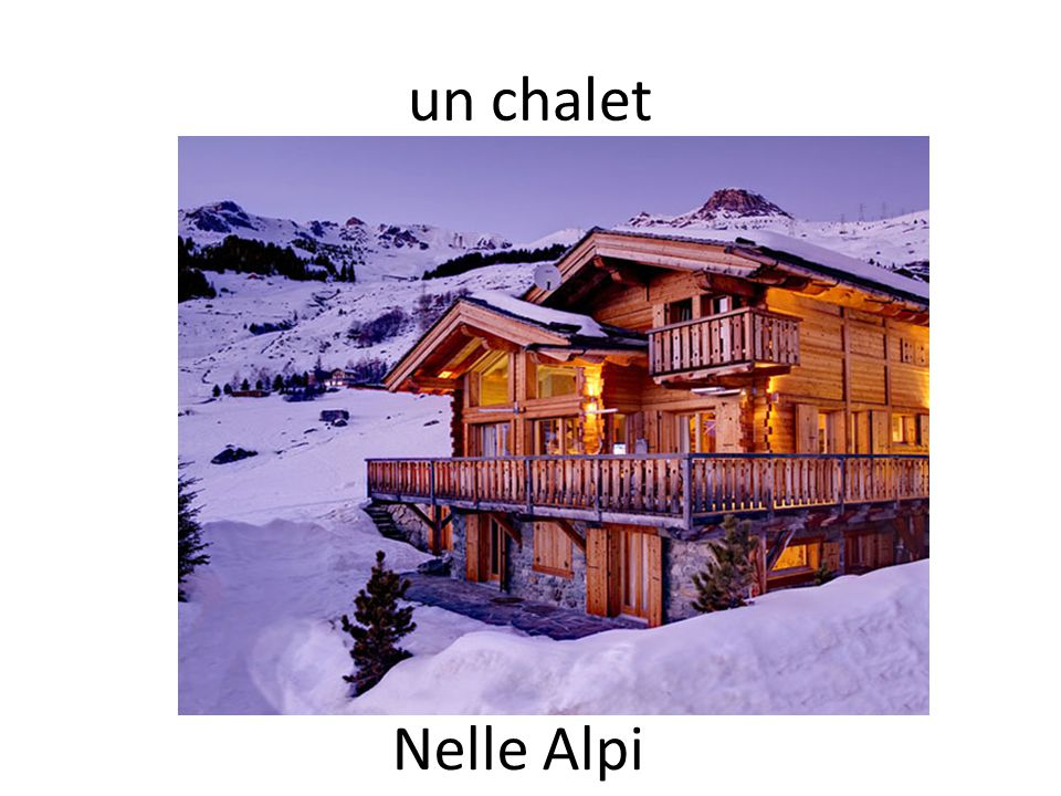 un chalet Nelle Alpi