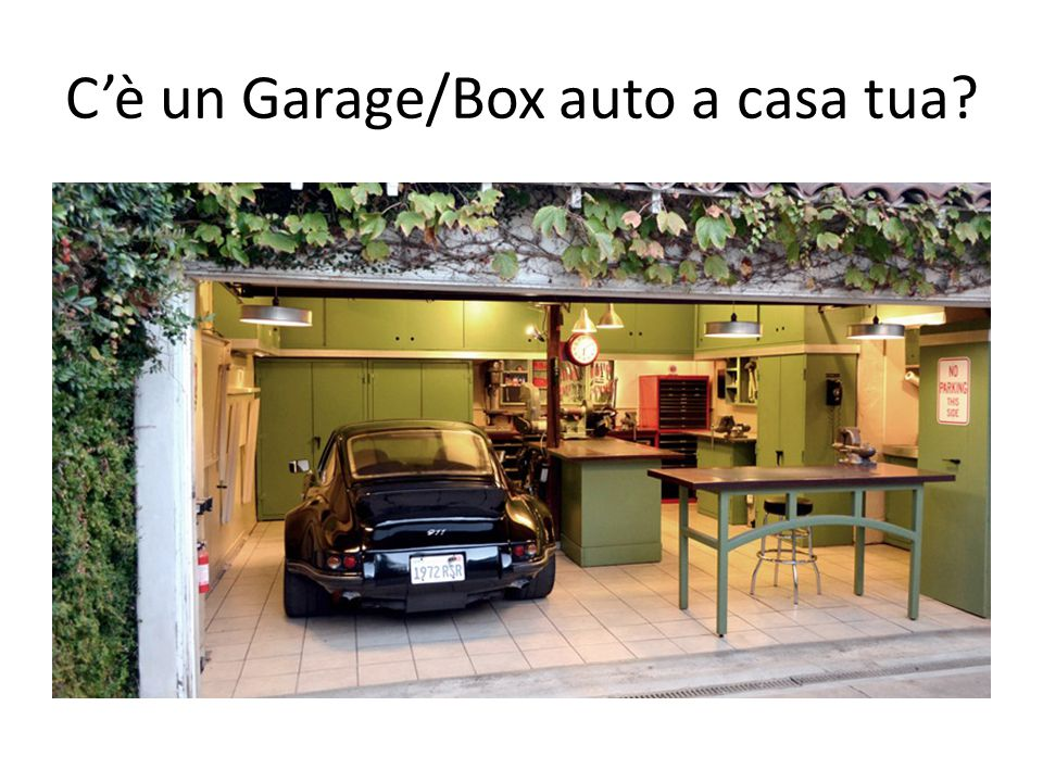 C'è un Garage/Box auto a casa tua?