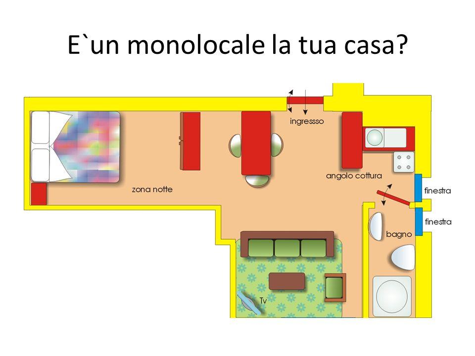 E`un monolocale la tua casa?