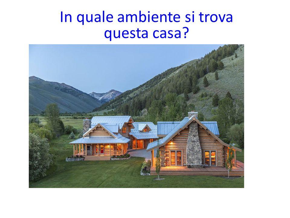 In quale ambiente si trova questa casa?