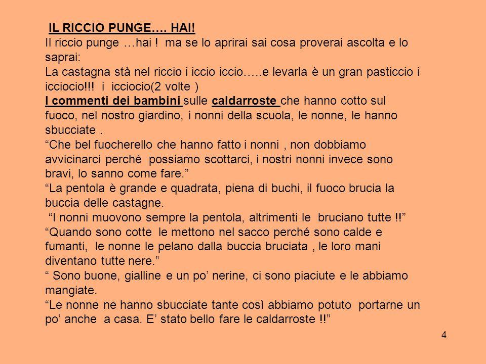 5 IL DOLCE: …………PALLINE DI CASTAGNE .