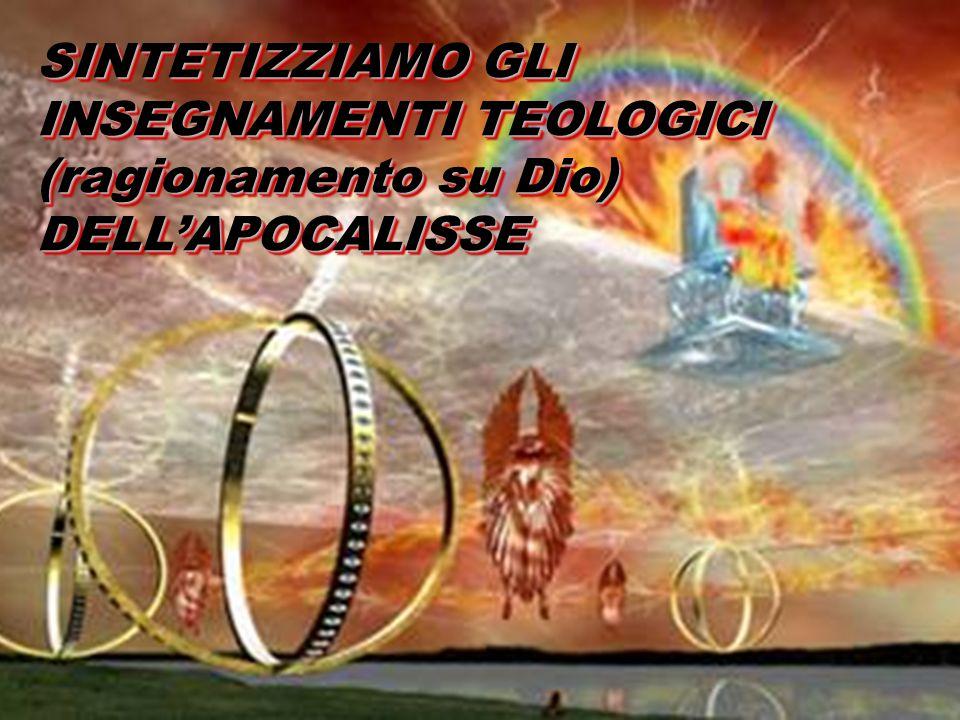SINTETIZZIAMO GLI INSEGNAMENTI TEOLOGICI (ragionamento su Dio) DELL'APOCALISSE