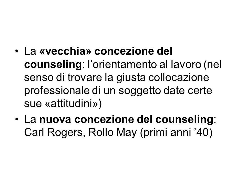 La «vecchia» concezione del counseling: l'orientamento al lavoro (nel senso di trovare la giusta collocazione professionale di un soggetto date certe