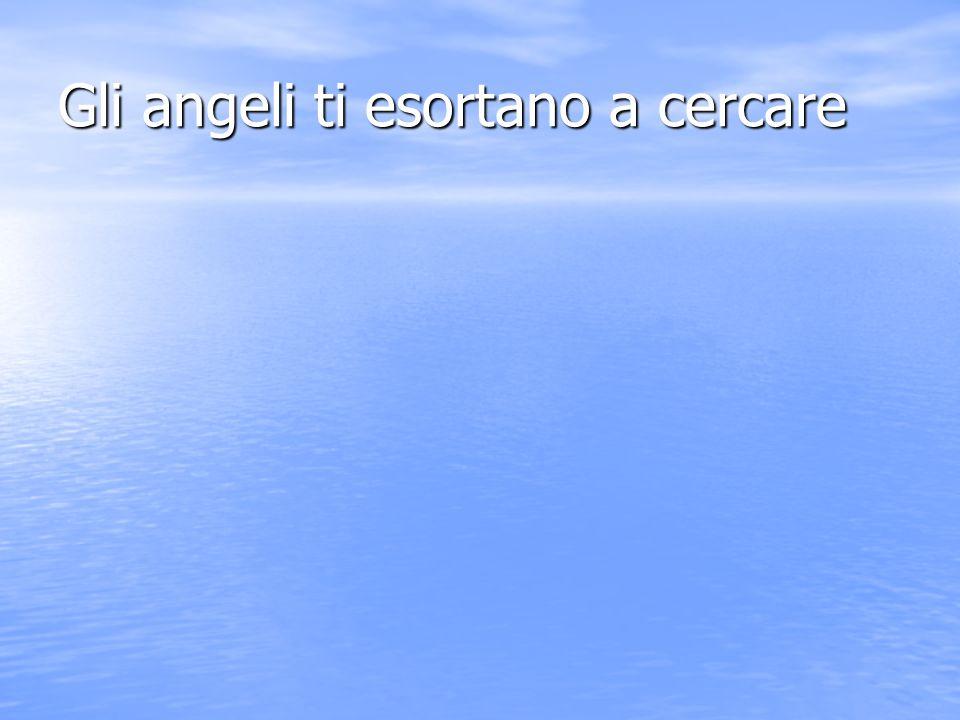 Gli angeli ti esortano a cercare