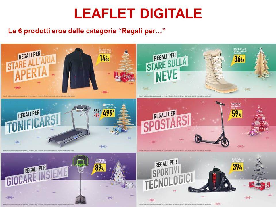 "LEAFLET DIGITALE Le 6 prodotti eroe delle categorie ""Regali per…"""