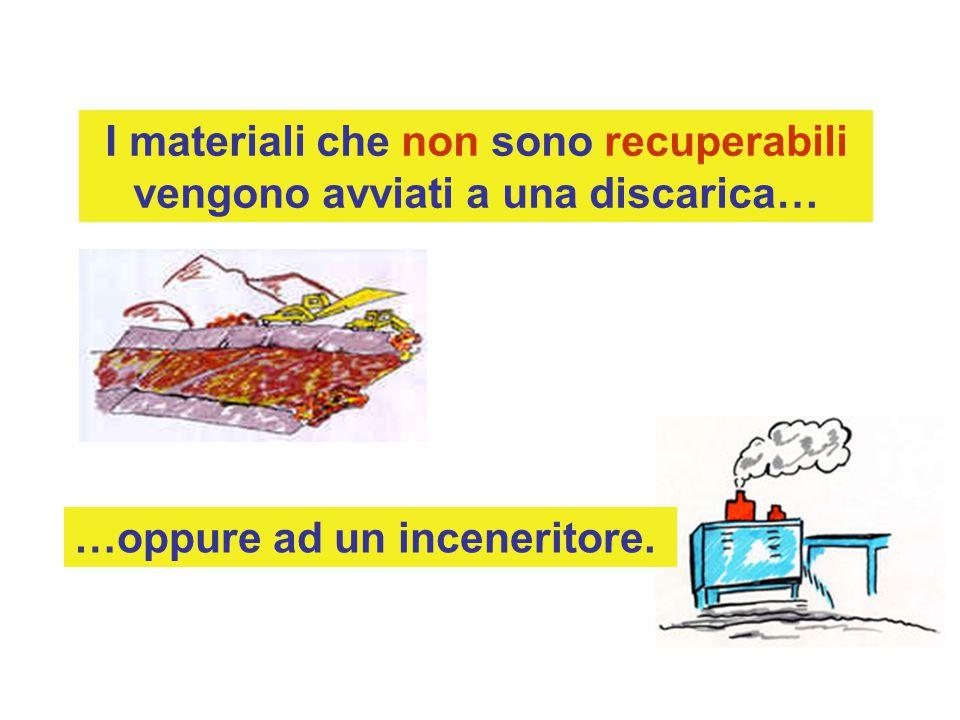 I materiali che non sono recuperabili vengono avviati a una discarica… …oppure ad un inceneritore.