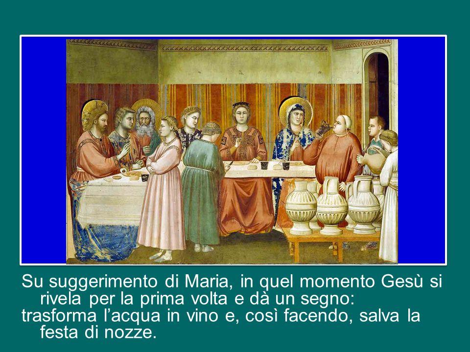 Il motivo più profondo della gioia di quel giorno ce lo indica il Vangelo di Giovanni: ricordate il miracolo delle nozze di Cana? A un certo punto il