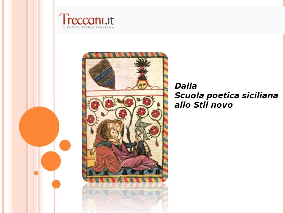 Scuola poetica siciliana → Fa nascere la poesia d'amore in Italia.