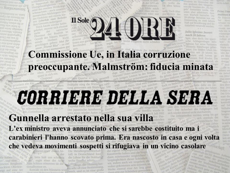 Commissione Ue, in Italia corruzione preoccupante.