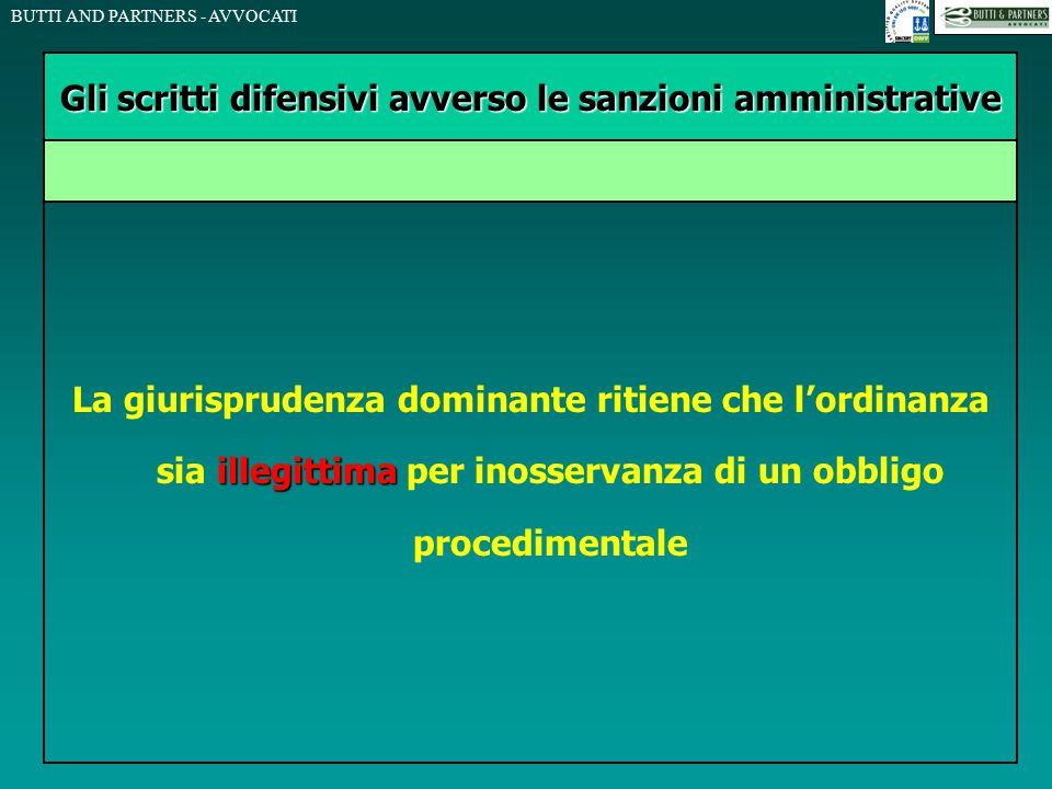 BUTTI AND PARTNERS - AVVOCATI illegittima La giurisprudenza dominante ritiene che l'ordinanza sia illegittima per inosservanza di un obbligo procedime
