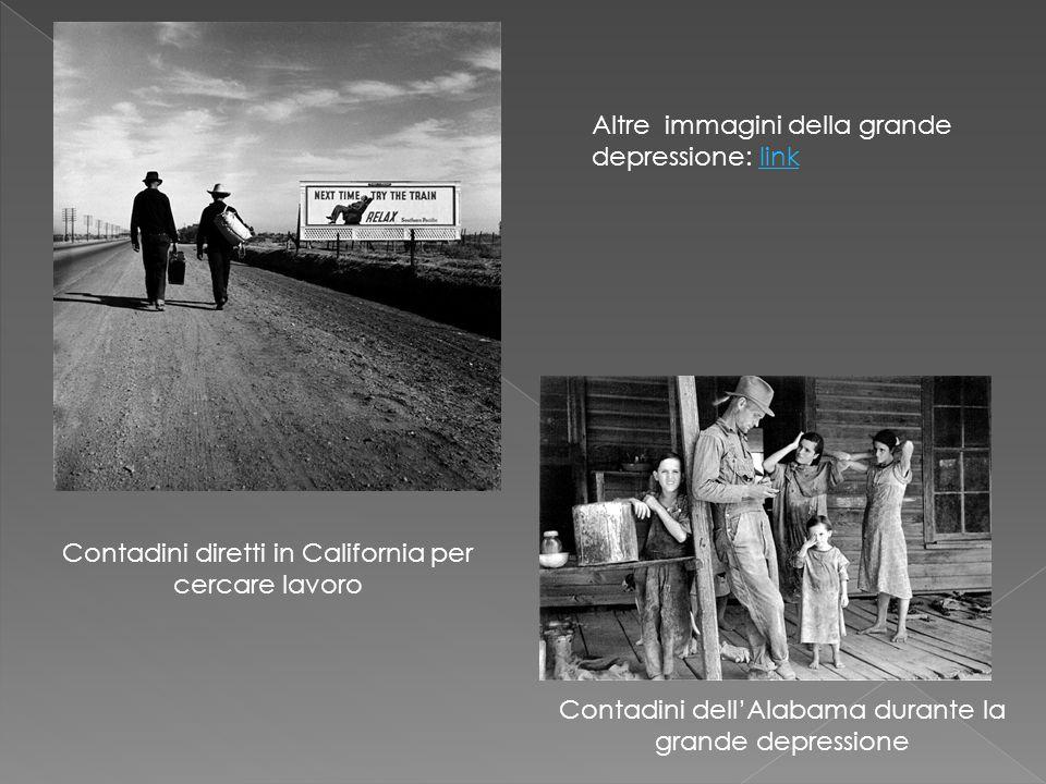 Contadini dell'Alabama durante la grande depressione Contadini diretti in California per cercare lavoro Altre immagini della grande depressione: linkl