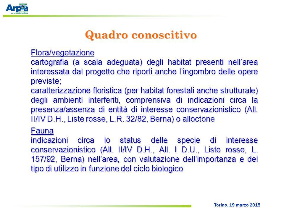 Torino, 19 marzo 2015 Possibili mitigazioni (1) scelta dei tracciati meno impattanti per le infrastrutture lineari (condotte, piste, elettrodotto); prevedere l'interramento dell'elettrodotto di collegamento alla RTN; riduzione allo stretto indispensabile delle opere in alveo (difese spondali, rivestimenti, ecc.), privilegiando, dove possibile, l'ingegneria naturalistica; modalità di funzionamento dell'impianto in modo da attenuare la modifica del regime idrologico naturale e l'eventuale riduzione di idoneità ambientale per l'ittiofauna; Caso studio 1 – V.I.