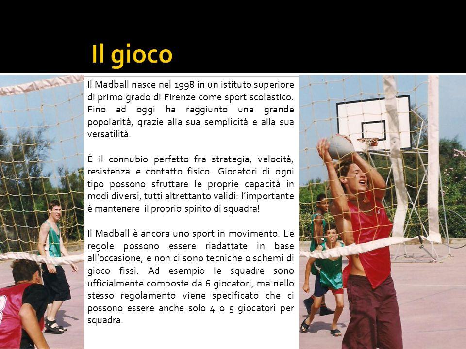 Il Madball nasce nel 1998 in un istituto superiore di primo grado di Firenze come sport scolastico.