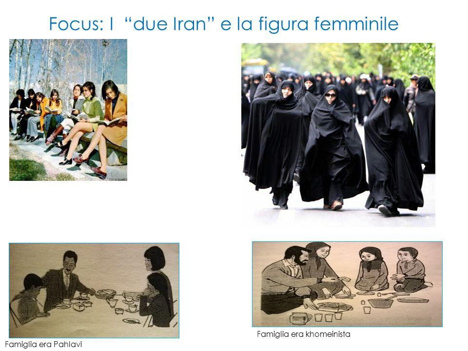 Focus: I due Iran e la figura femminile Famiglia era Pahlavi Famiglia era khomeinista