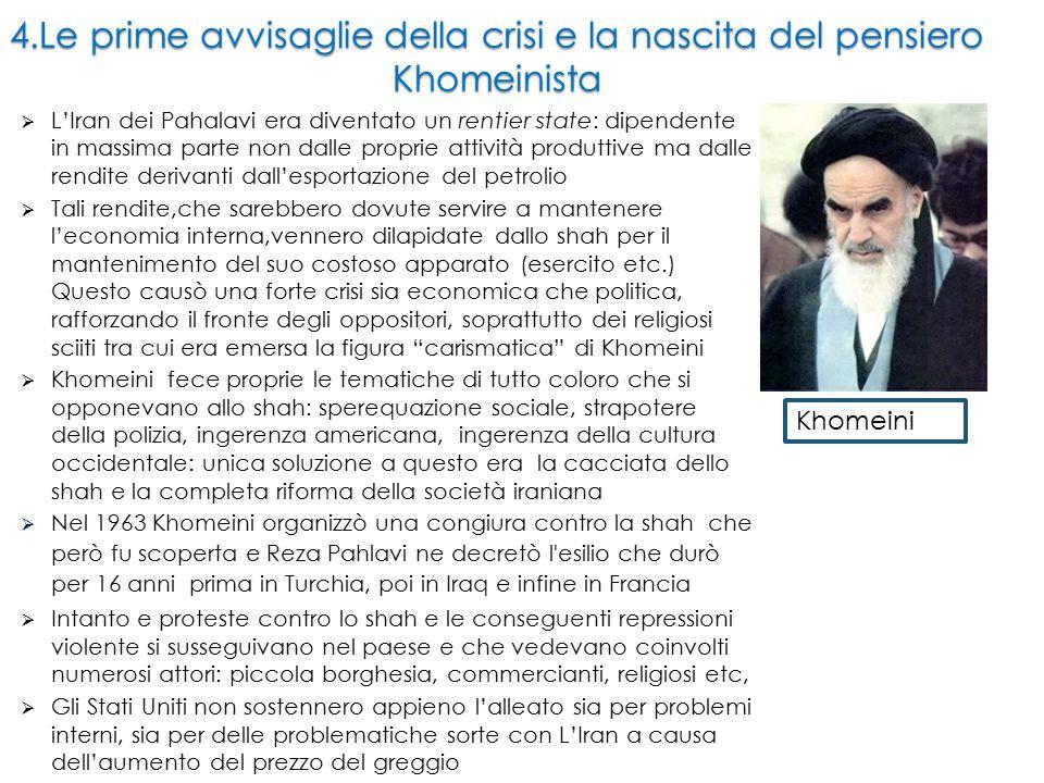 7.Il dopo Khomeini A Khomeini (morto il 3 giugno 1989) succede (come guida suprema) Khamenei.