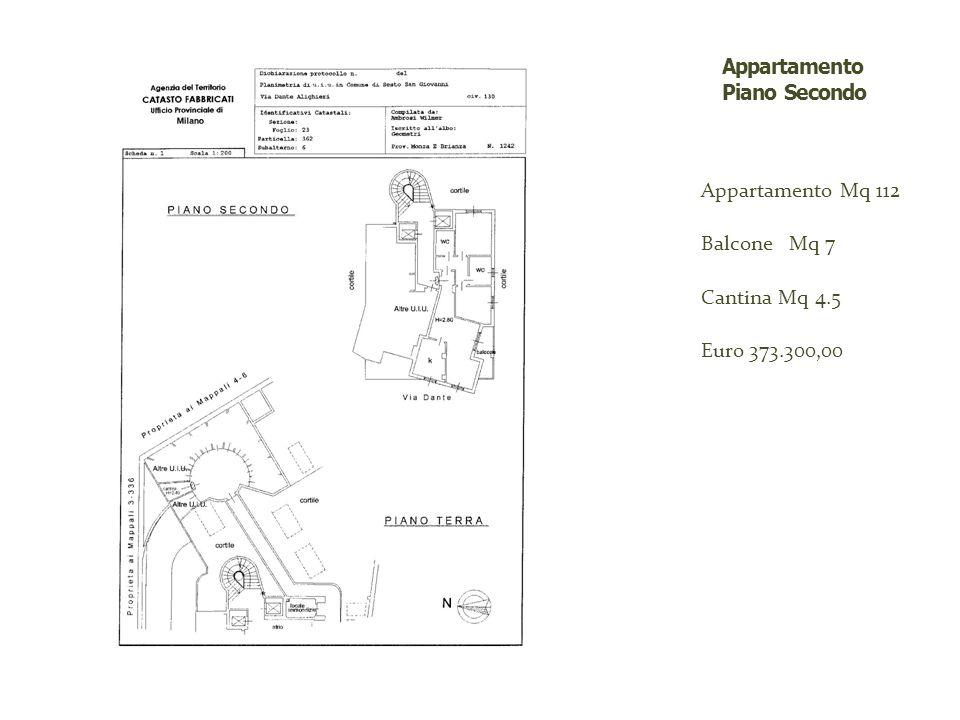 Appartamento Mq 112 Balcone Mq 7 Cantina Mq 4.5 Euro 373.300,00