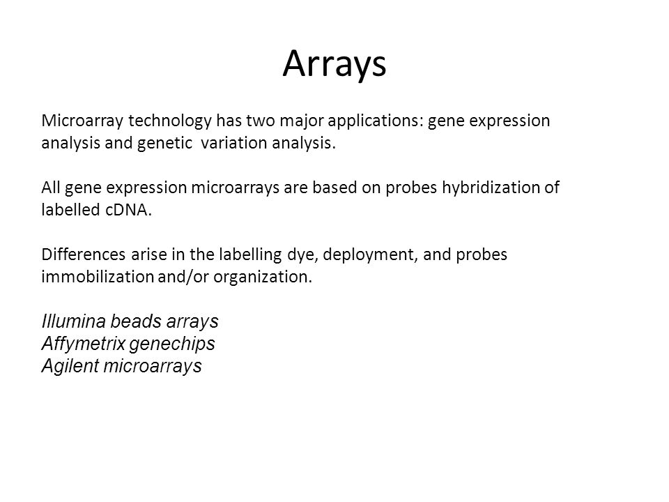 Microarray technology has two major applications: gene expression analysis and genetic variation analysis.