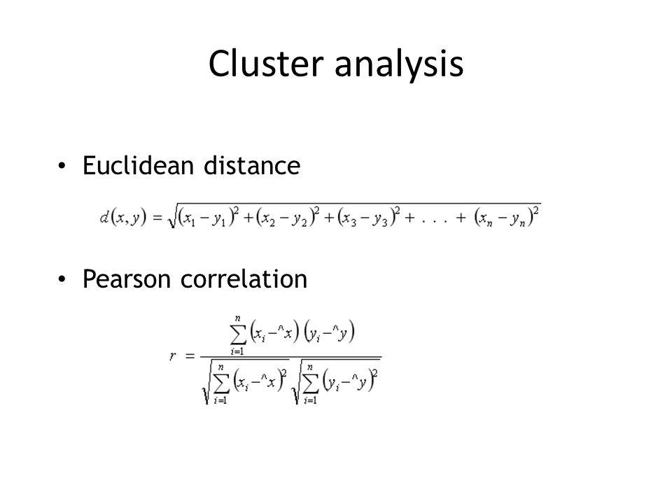 Euclidean distance Pearson correlation