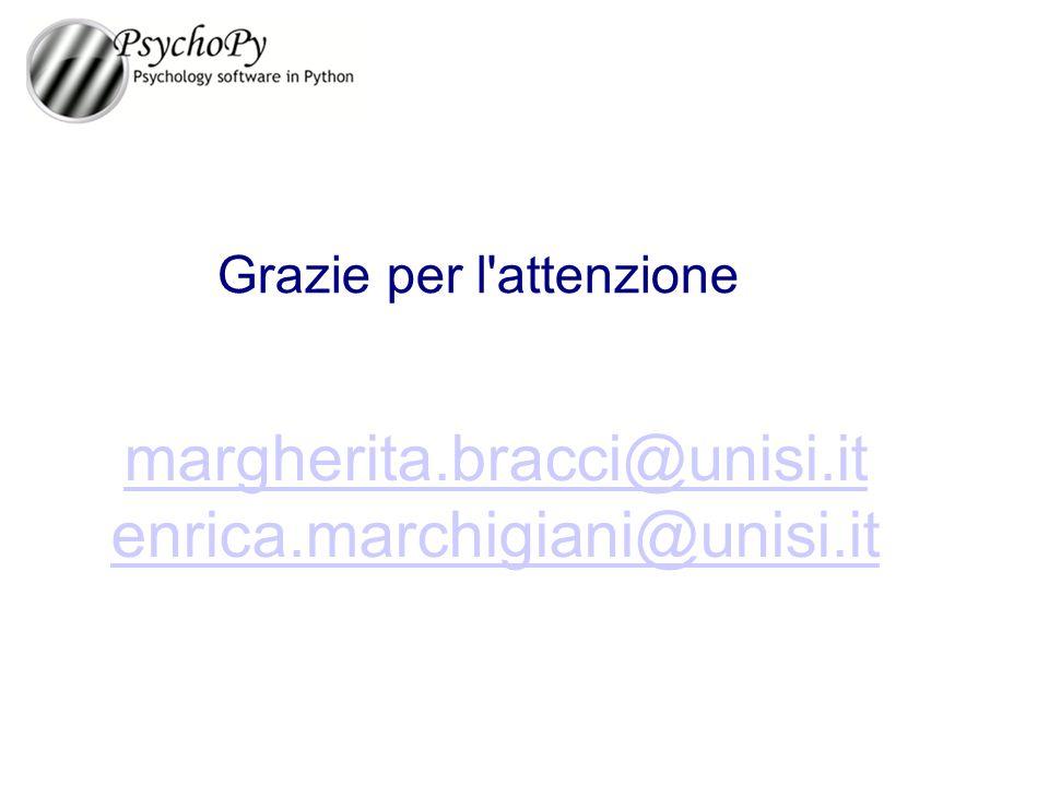 margherita.bracci@unisi.it enrica.marchigiani@unisi.it Grazie per l'attenzione
