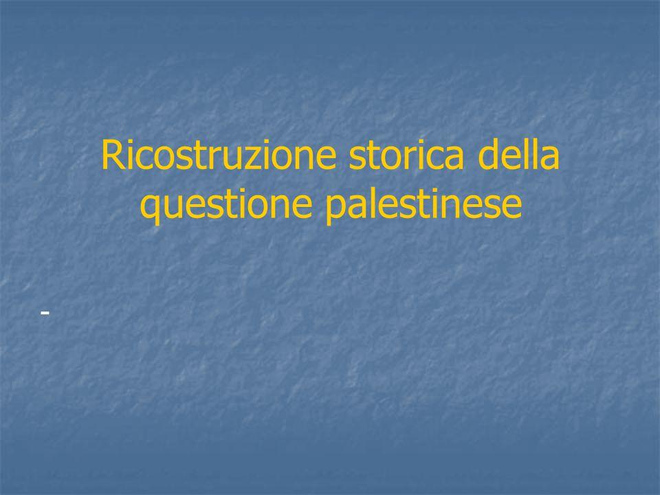 Ricostruzione storica della questione palestinese -