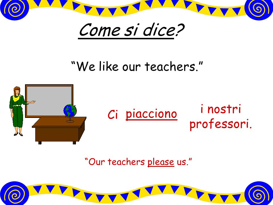 Come si dice? He doesn't like to dance. To dance is not pleasing to him. ballare. piaceNon gli