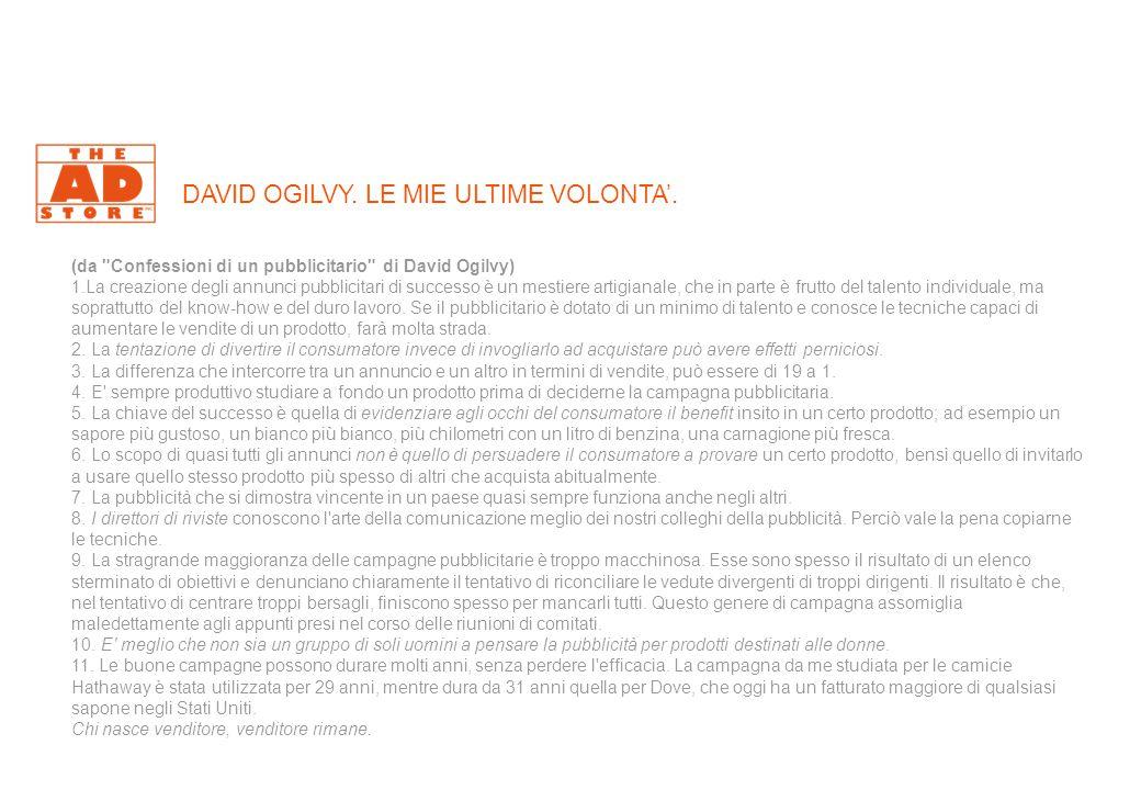 DAVID OGILVY. LE MIE ULTIME VOLONTA'.