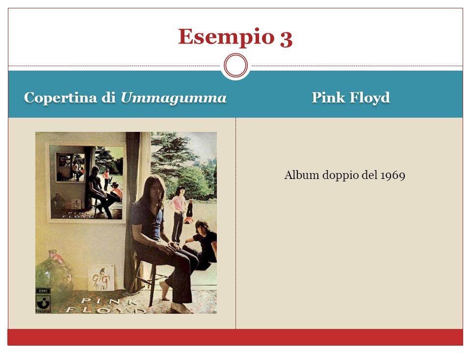 Copertina di Ummagumma Pink Floyd Esempio 3 Album doppio del 1969
