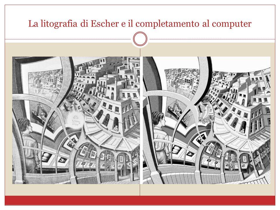 La litografia di Escher e il completamento al computer