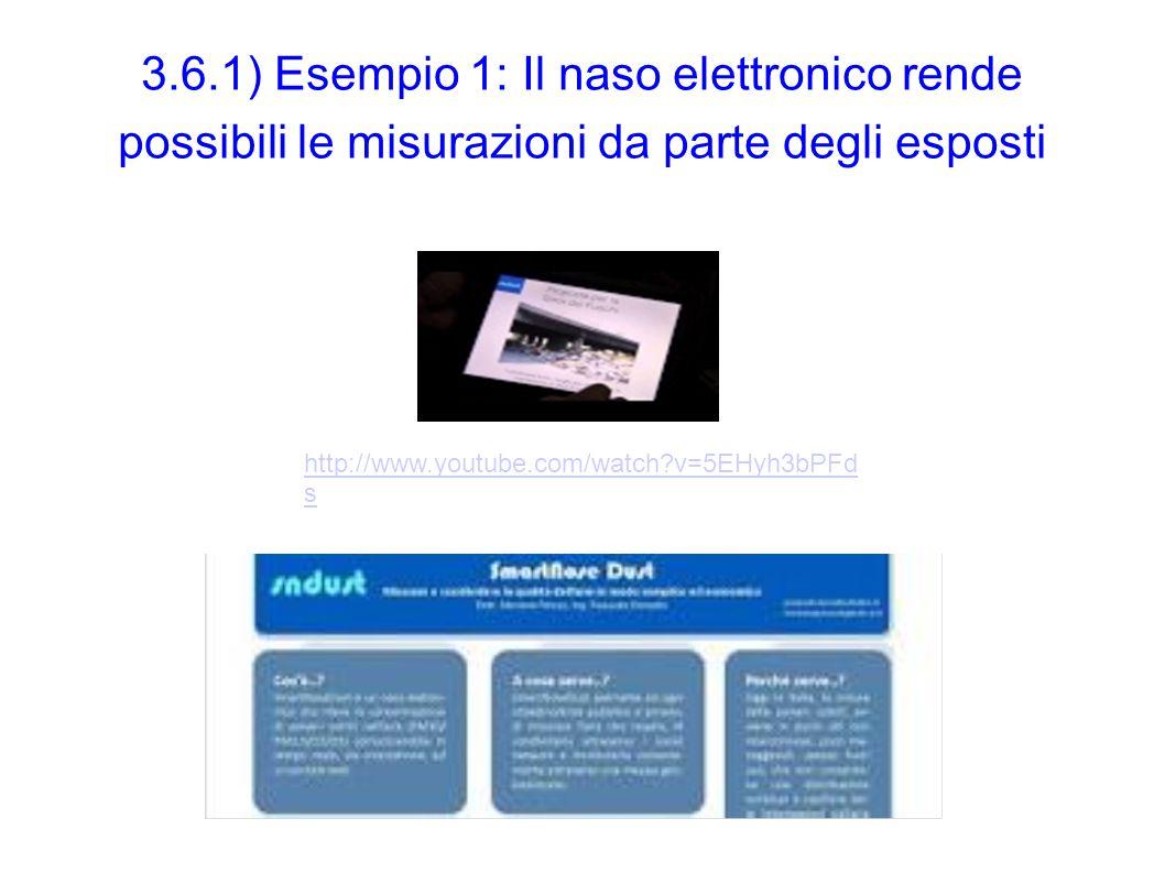 3.6.1) Esempio 1: Il naso elettronico rende possibili le misurazioni da parte degli esposti http://www.youtube.com/watch?v=5EHyh3bPFd s