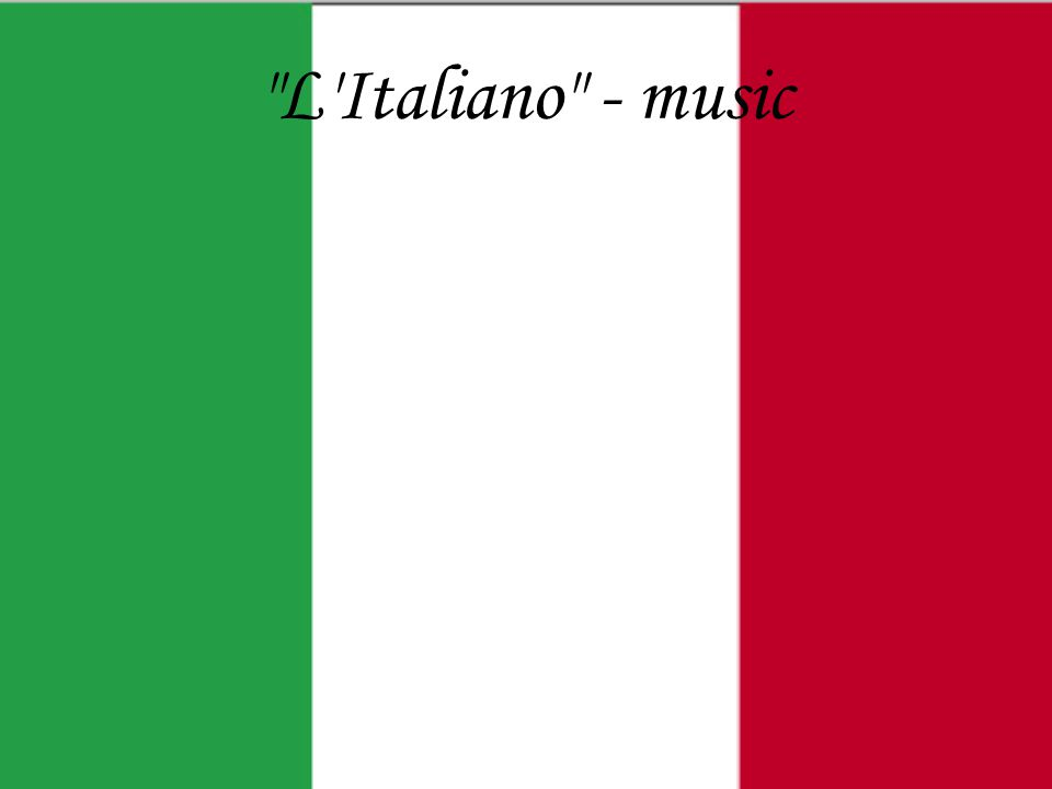 L Italiano - music