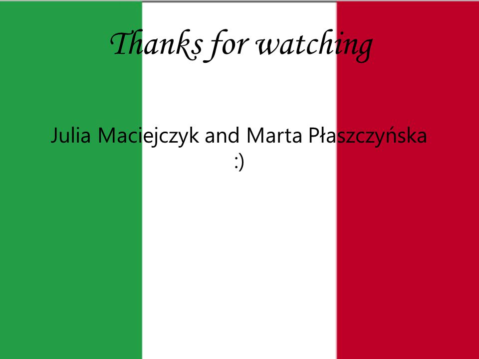 Thanks for watching Julia Maciejczyk and Marta Płaszczyńska :)