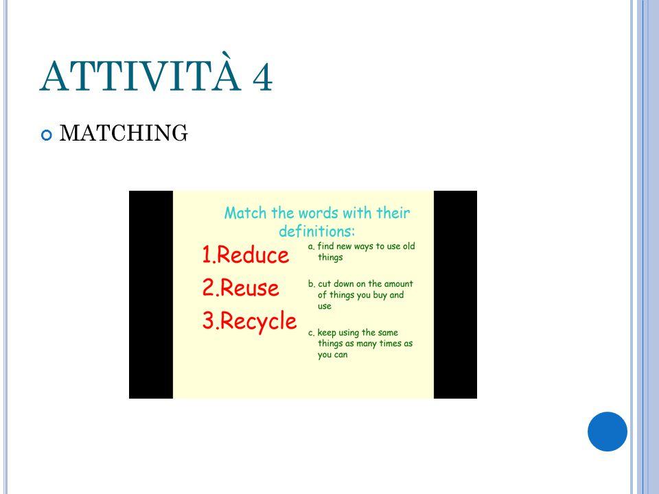 ATTIVITÀ 4 MATCHING
