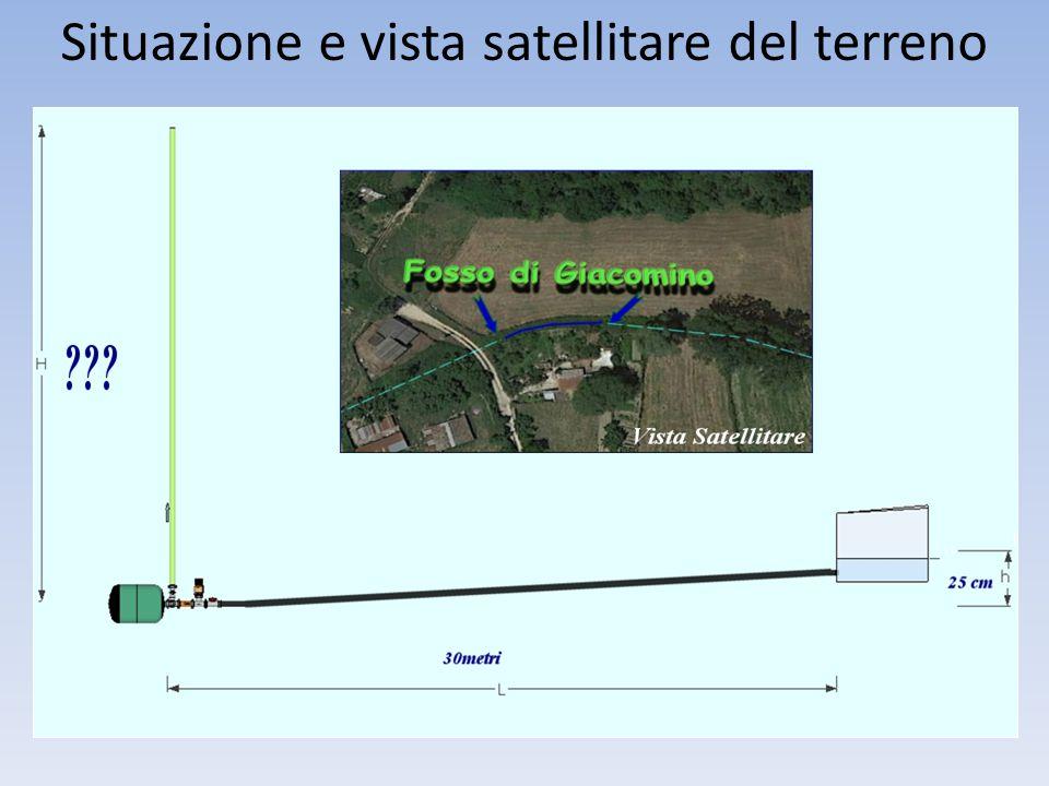 Situazione e vista satellitare del terreno