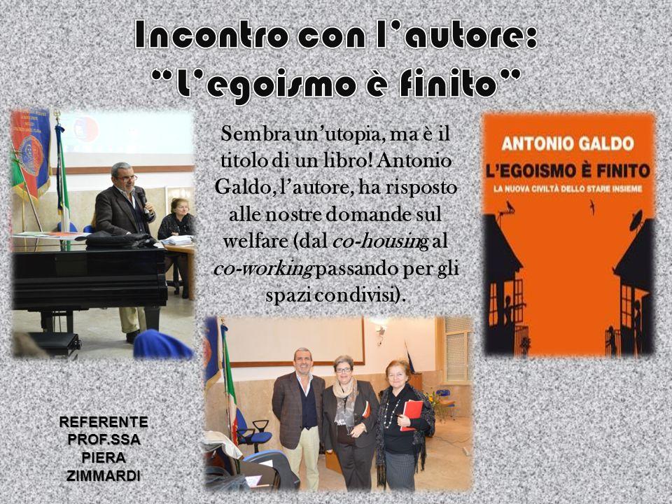 INCONTRO CON L'AUTORE IGNAZIO INGRAO ALLE STORIE DI CORRADO AUGIAS REFERENTE LA PROF.SSA PIERA ZIMMARDI