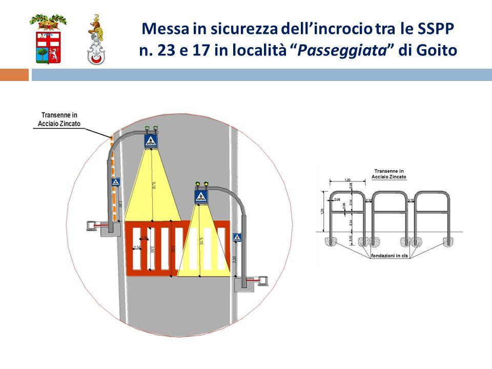 Messa in sicurezza dell'incrocio tra le SSPP n. 23 e 17 in località Passeggiata di Goito