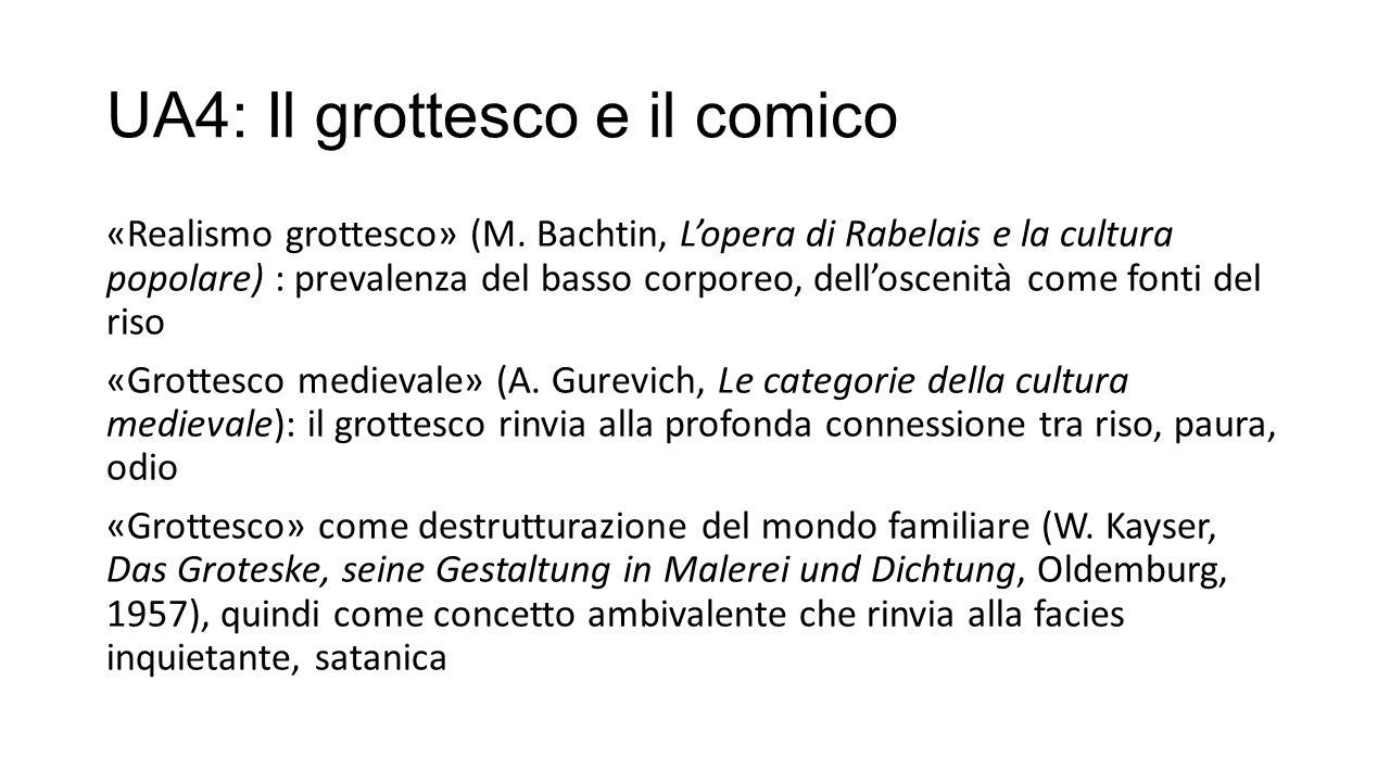 UA4: Il grottesco e il comico «Realismo grottesco» (M.