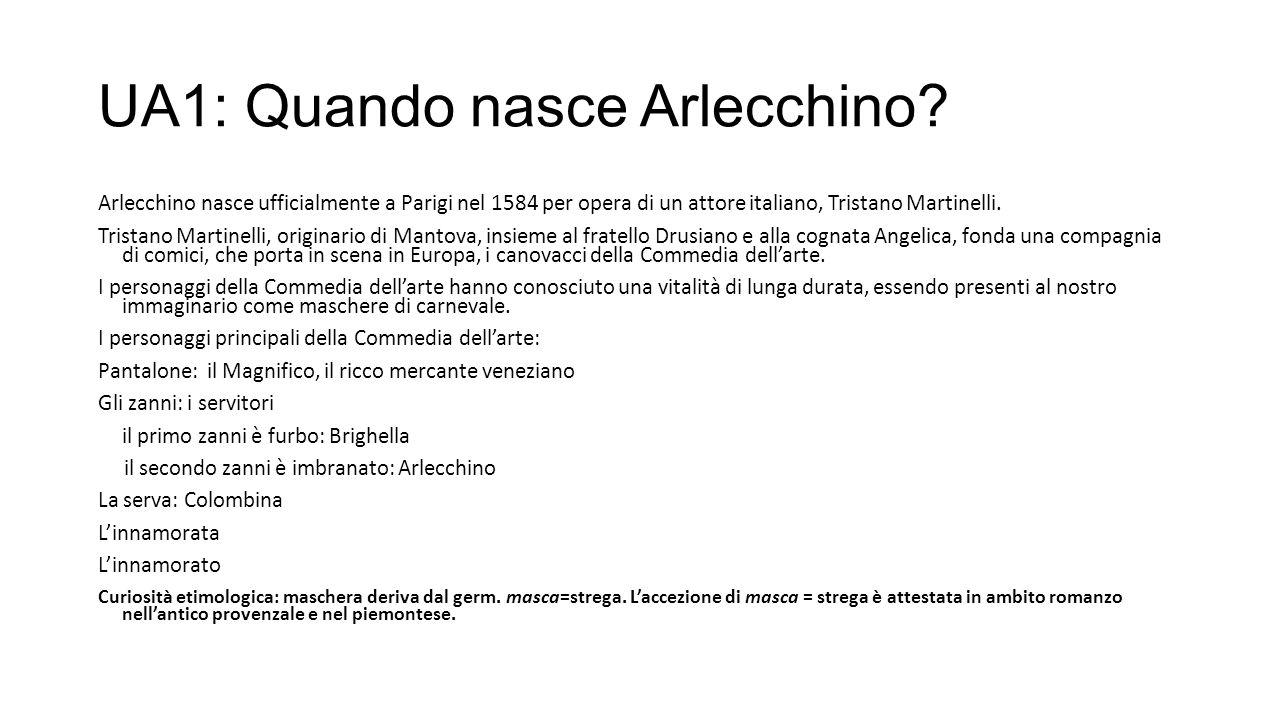 UA1: Quando nasce Arlecchino.