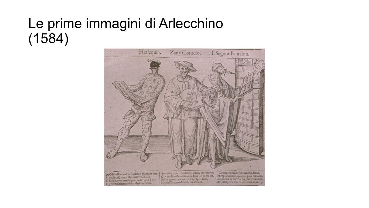 Le prime immagini di Arlecchino (1584)