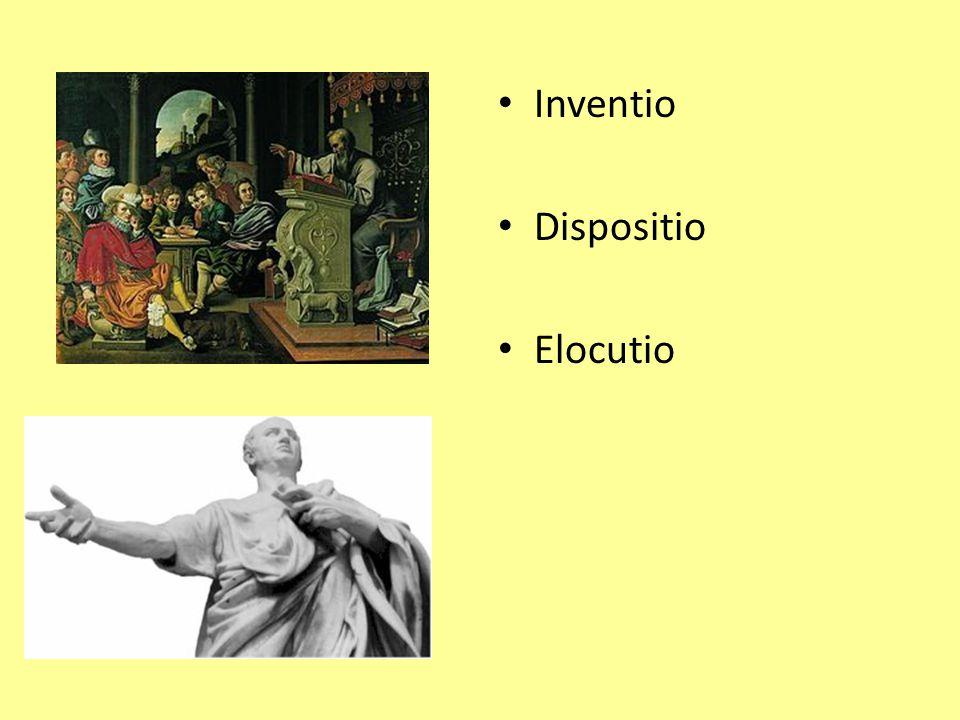 Inventio Dispositio Elocutio