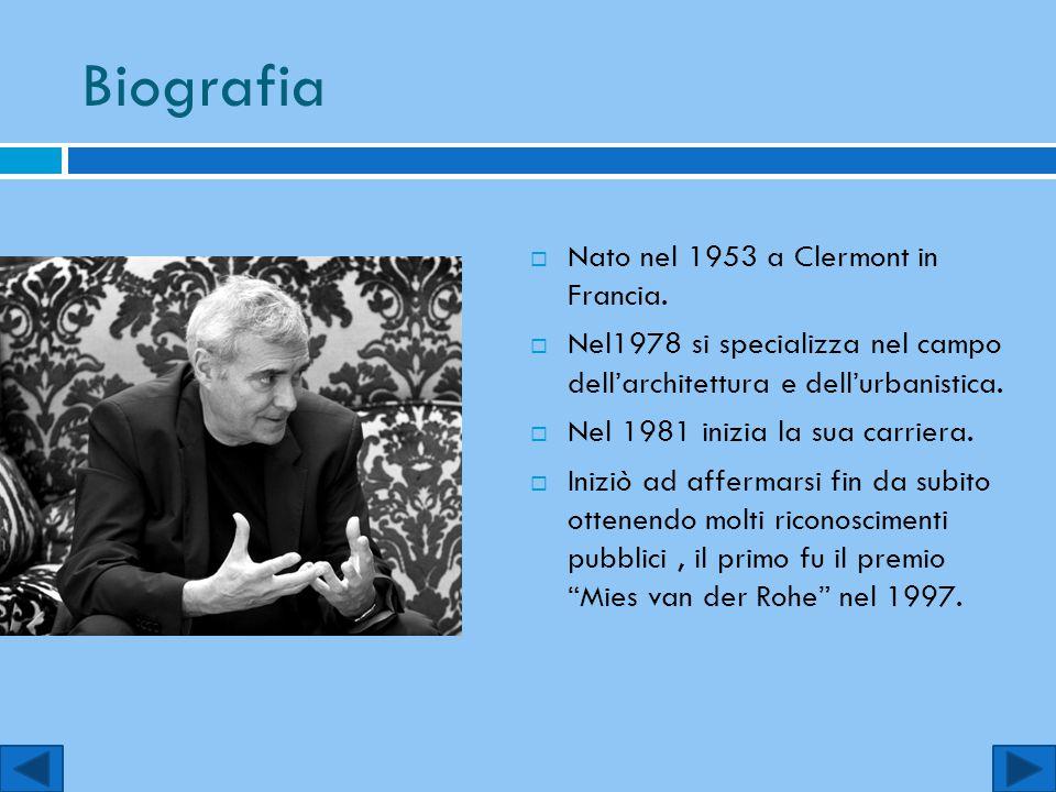 Biografia  Nato nel 1953 a Clermont in Francia.  Nel1978 si specializza nel campo dell'architettura e dell'urbanistica.  Nel 1981 inizia la sua car