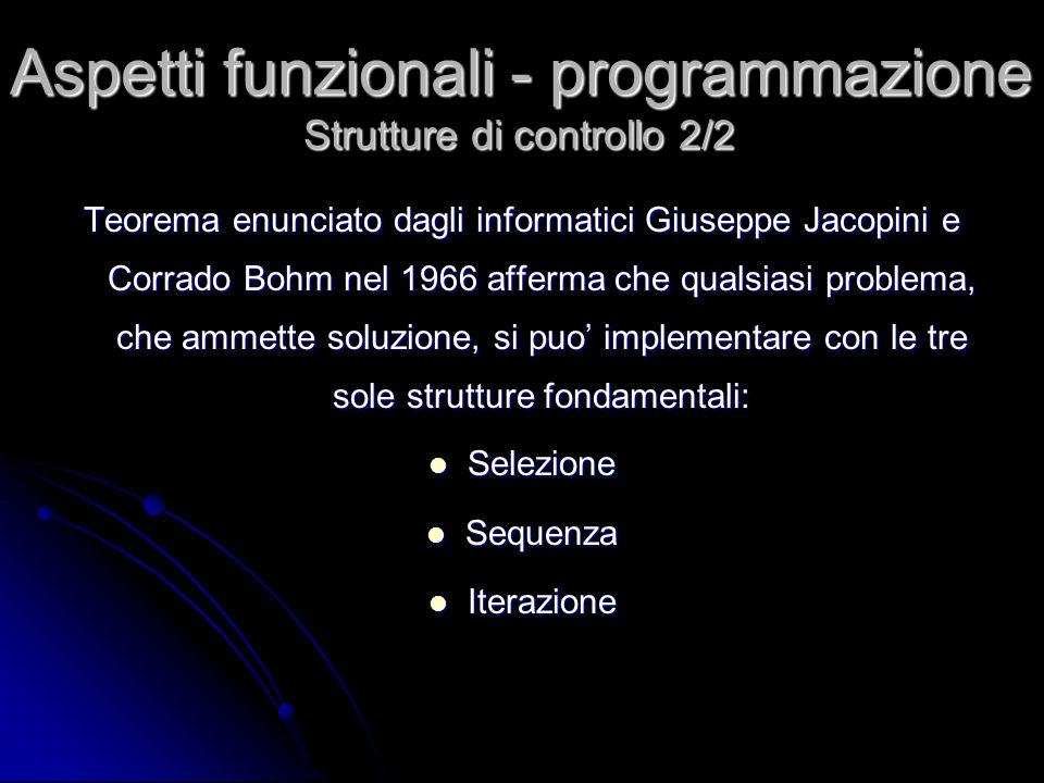 Teorema enunciato dagli informatici Giuseppe Jacopini e Corrado Bohm nel 1966 afferma che qualsiasi problema, che ammette soluzione, si puo' implement