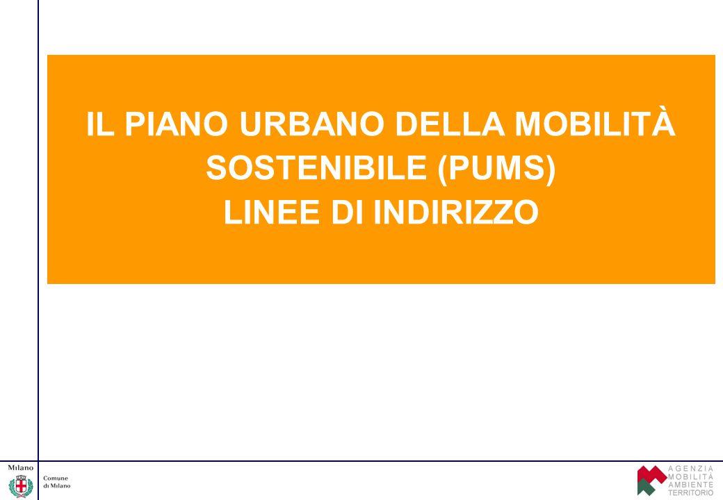 IL PIANO URBANO DELLA MOBILITÀ SOSTENIBILE (PUMS) LINEE DI INDIRIZZO