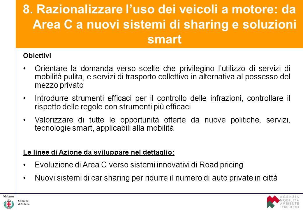 Obiettivi Orientare la domanda verso scelte che privilegino l'utilizzo di servizi di mobilità pulita, e servizi di trasporto collettivo in alternativa