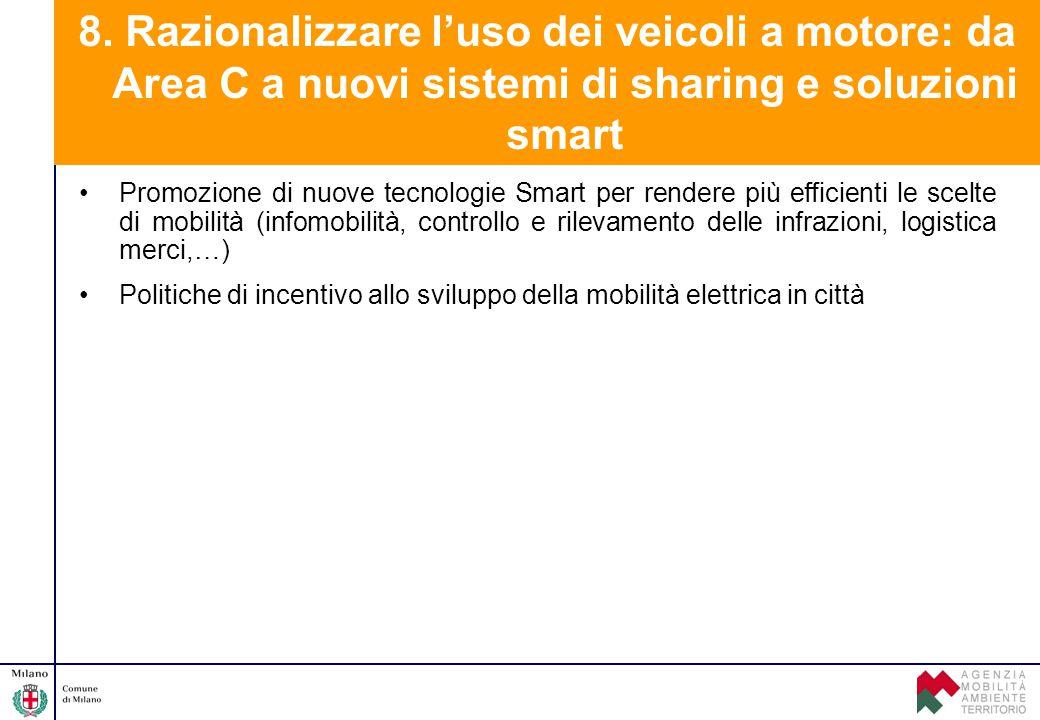 Promozione di nuove tecnologie Smart per rendere più efficienti le scelte di mobilità (infomobilità, controllo e rilevamento delle infrazioni, logisti